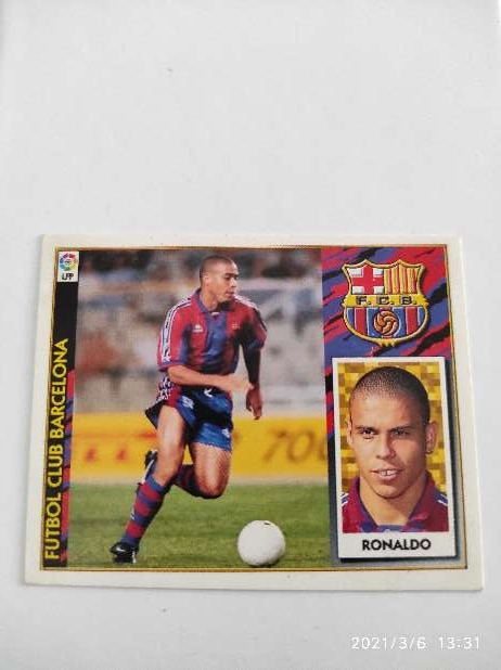 Imagen Cromo Ronaldo Liga Este 97/98