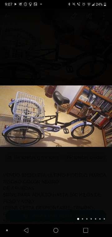 Imagen Bicicleta riscko de 3 ruedas adulto y niño a estrenar