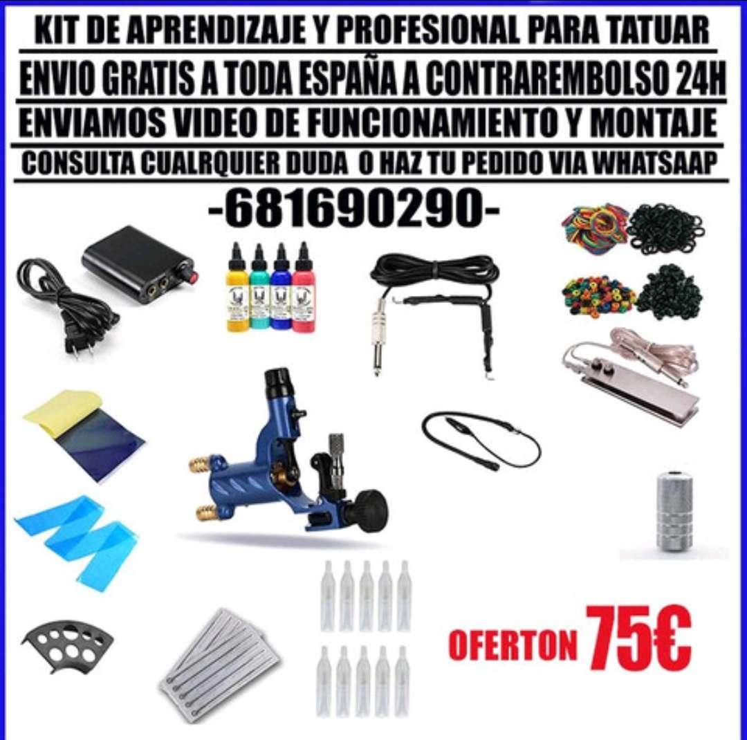 Imagen kit de tatuar, set de tatuaje , envío gratis