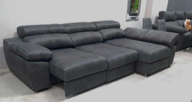 Imagen Sofá chaiselongue cama color gris oscuro
