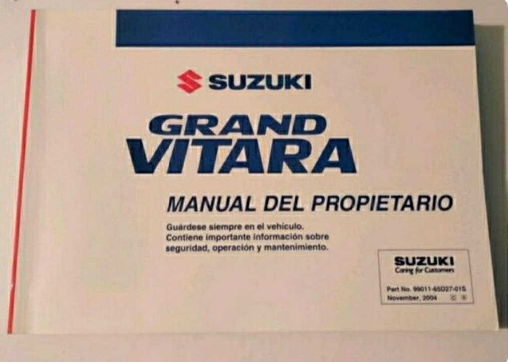 Imagen manual Suzuki vitara