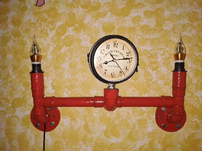 Imagen Lampara simulación tuberías contraincendios con reloj giratorio