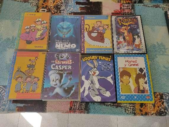 Imagen DVDs de películas infantiles.