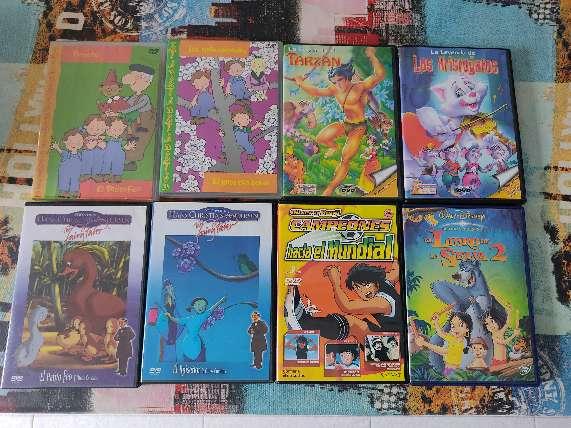 Imagen DVDs películas para niños.