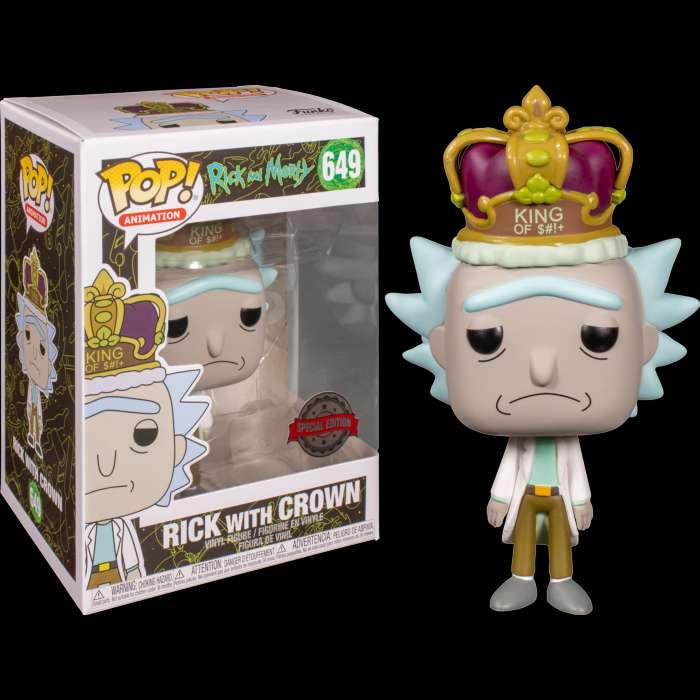 Imagen Rick with Crown Funko Pop Original. Edición Especial