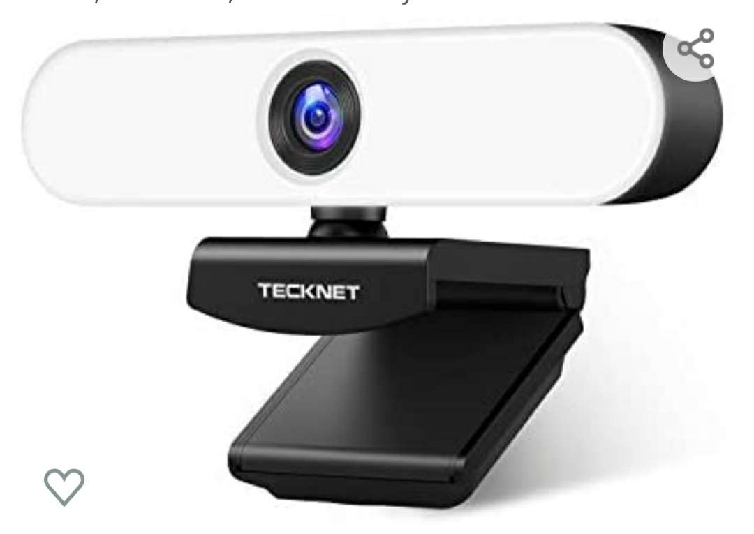 Imagen Webcam con microfono y anillo de luz