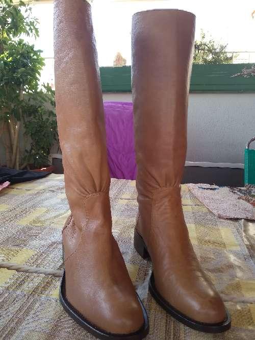 Imagen botas altas de piel mujer