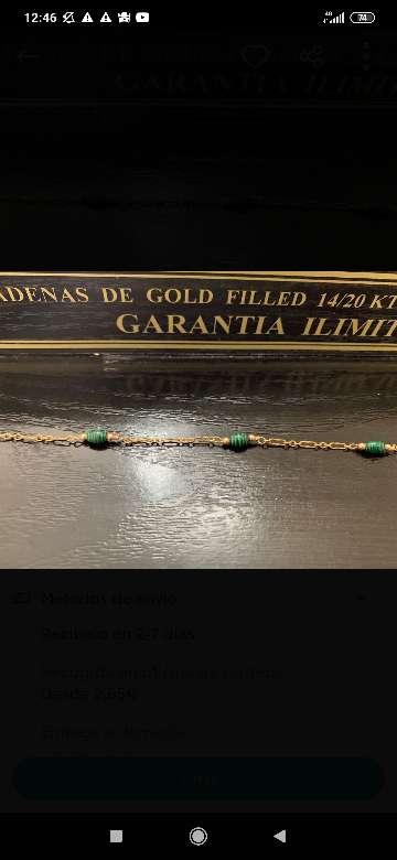 Imagen Gargantilla chapada en oro