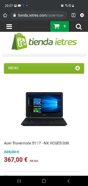 Imagen producto Acer Travelmate B117 Portátil Escolar OFERTA 6