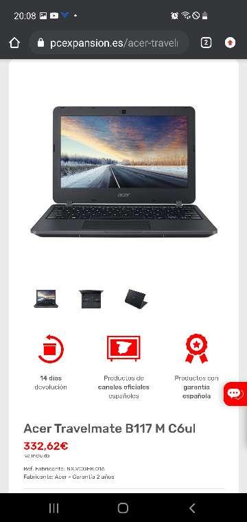 Imagen producto Acer Travelmate B117 Portátil Escolar OFERTA 5
