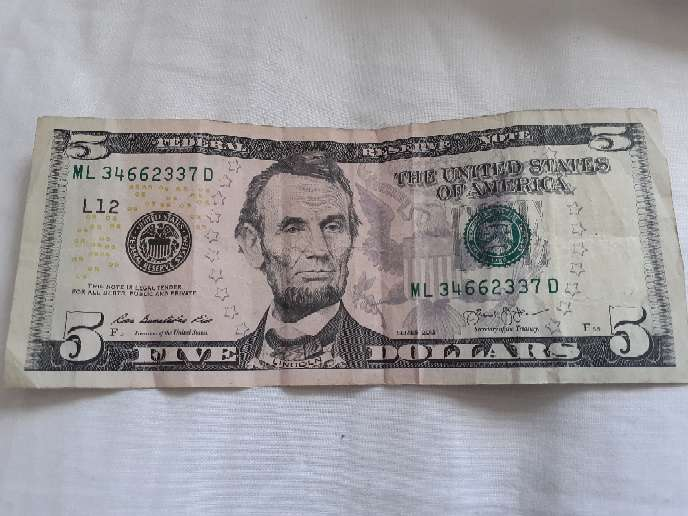 Imagen $ of Abraham Lincoln original in perfect condition