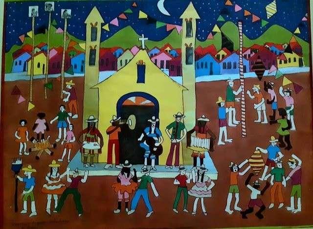 Imagen Aracy artista naif brasileira festa de casamento