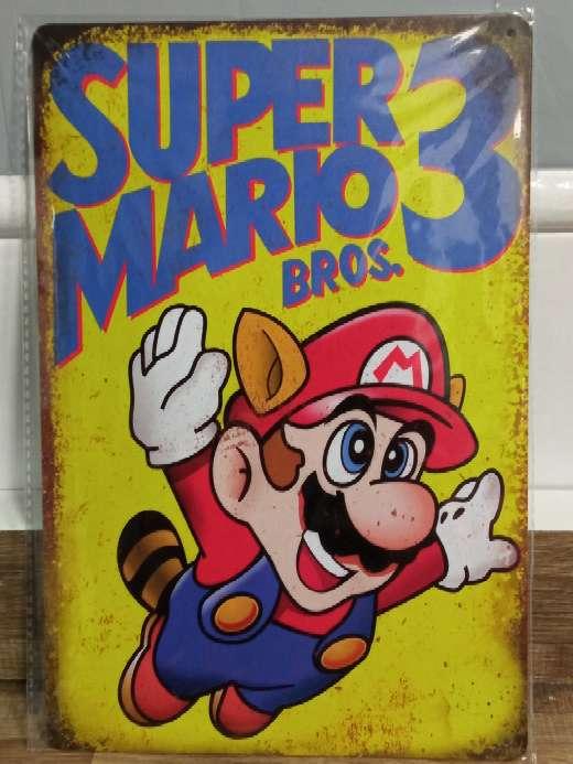 Imagen producto Super Mario Bros 3 placa retro vintage 2