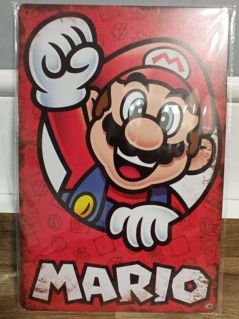 Imagen producto Mario Bros placa retro vintage 2