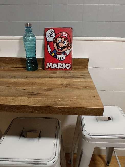 Imagen producto Mario Bros placa retro vintage 3