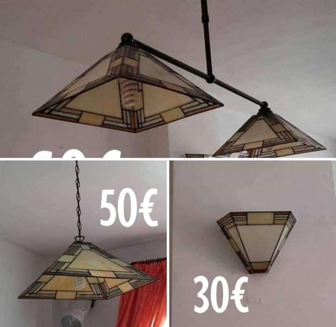 Imagen Juego de lámpara tipo tifani