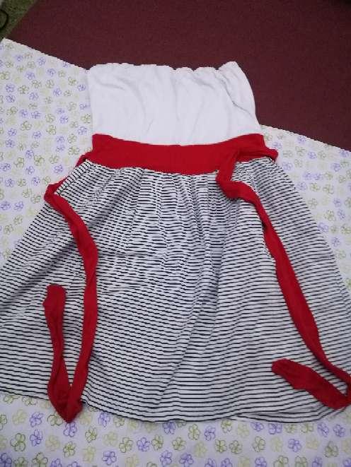Imagen Vestido rojo blanco y azul