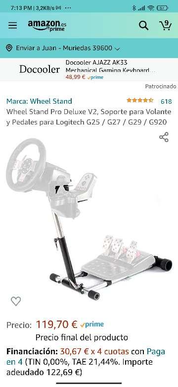 Imagen producto Soporte Volante Wheel Stand Pro Deluxe V2 8