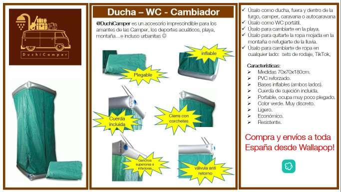 Imagen duchicamper - ducha + WC + cambiador + probador en PVC reforzado e inflable