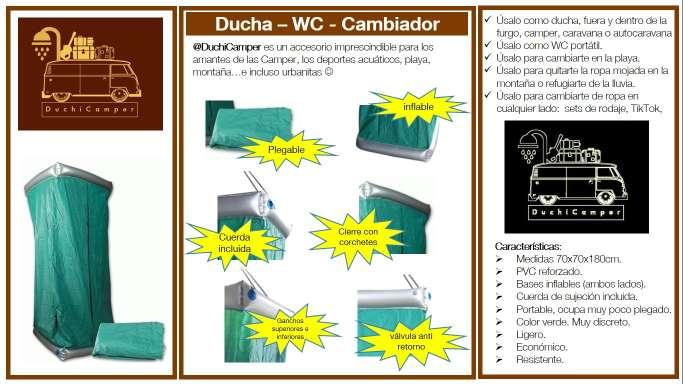 Imagen producto Duchicamper - ducha + WC + cambiador + probador en PVC reforzado e inflable 5