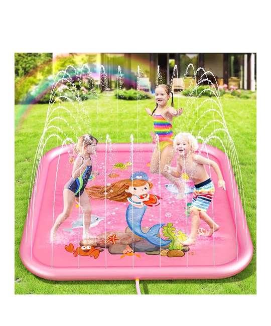 Imagen Asperso y piscina infantil hinchable