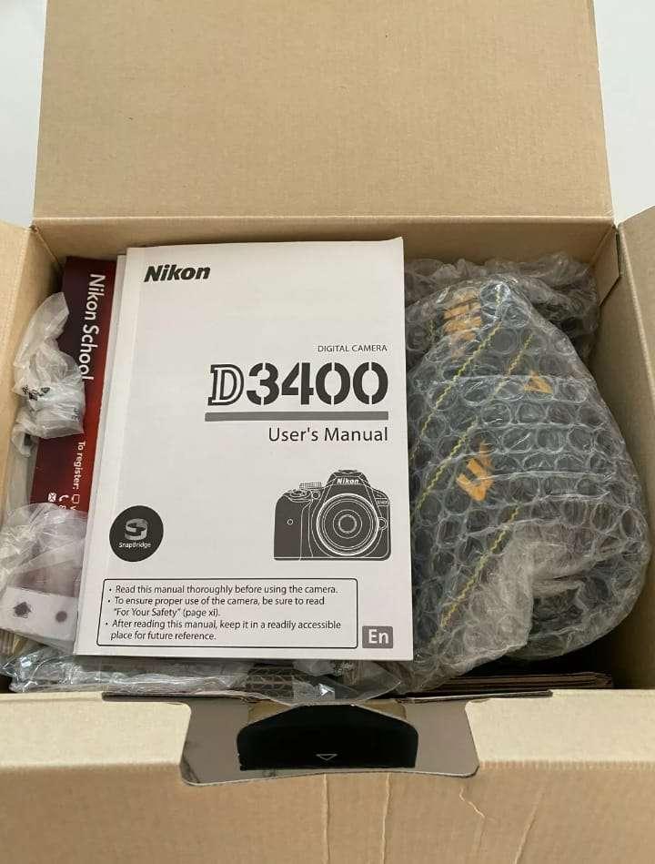 Imagen producto Original Nikon D3400 Camara Y lentes 3