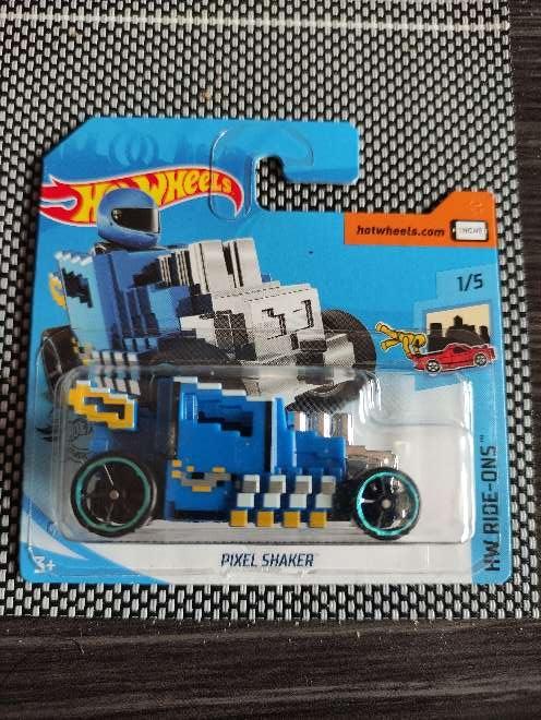 Imagen Hot Wheels Pixel Shaker azul 1/5 HW Ride-Ons