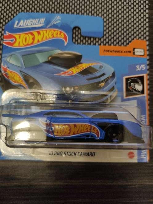 Imagen Hot Wheels 10 Pro stock Camaro  azul 3/5 Hw Race T