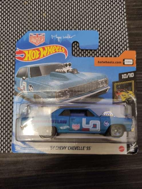 Imagen Hot Wheels 54 Chevy Chevelle ss azul 10/10