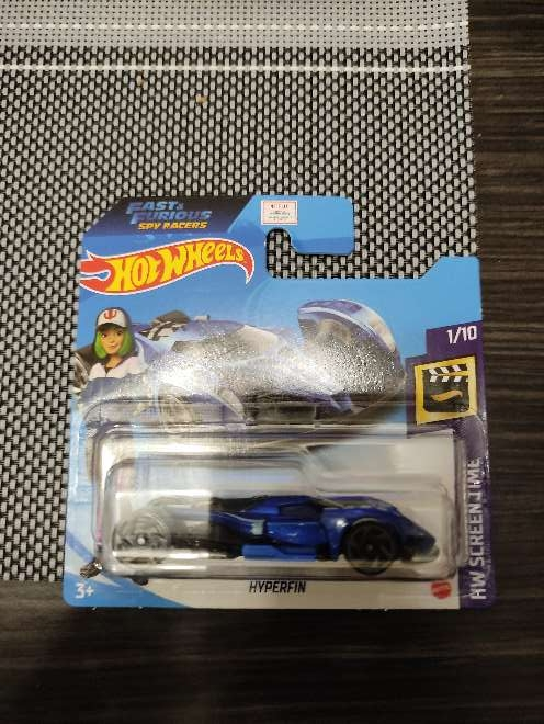 Imagen Hot Wheels F&F Hyperfin azul 1/10 HW Screen Time