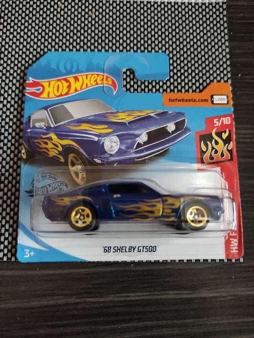 Imagen Hot Wheels '68 Shelby GT500 azul 5/10 HW Flames