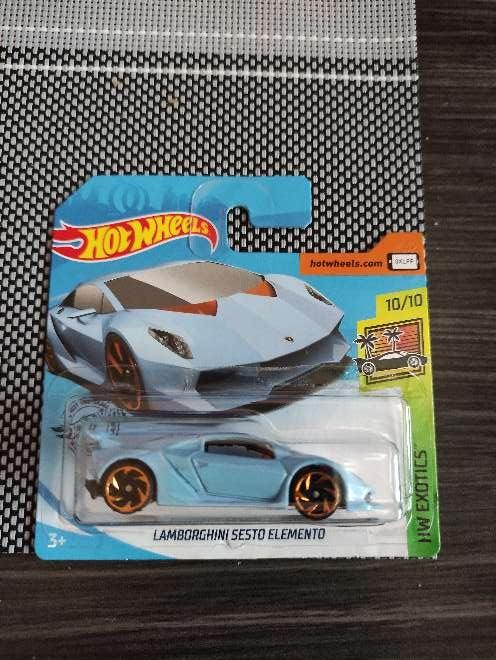 Imagen Hot Wheels Lamborghini sesto elemento azul 10/10 H