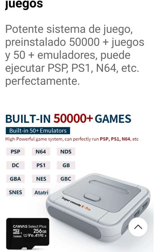 Imagen producto Consola retro 7