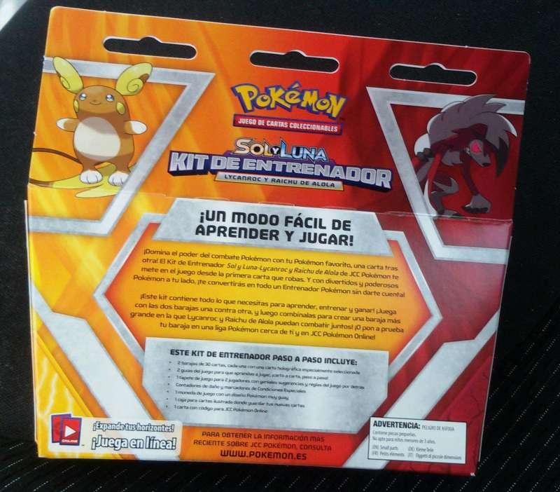 Imagen producto Pokémon JCC Sol y luna Kit de entrenador Original 2