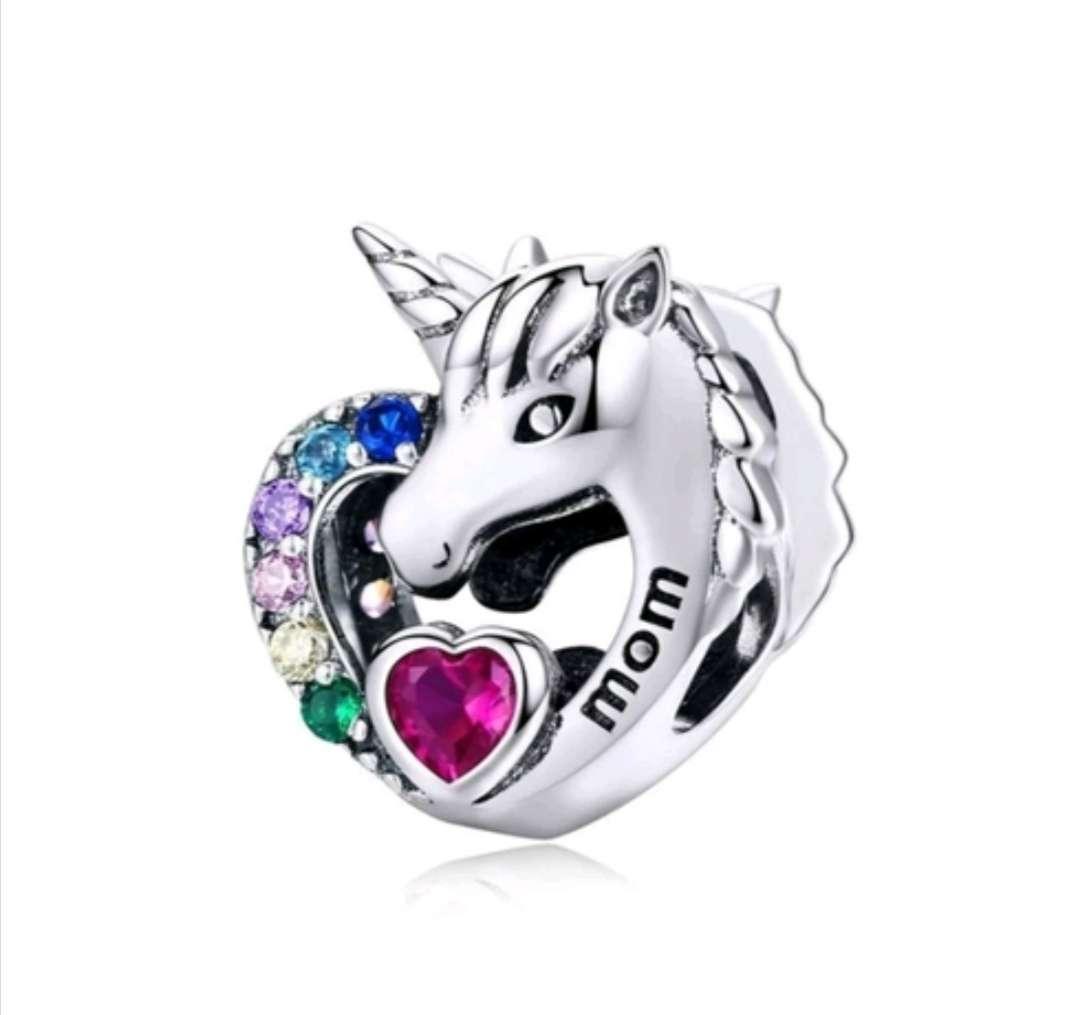 Imagen Charms - abalorio Unicornio para pulsera de Pandora, Bañado en Plata