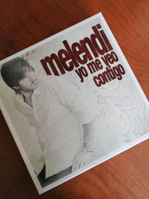 Imagen discos de melendi + libro