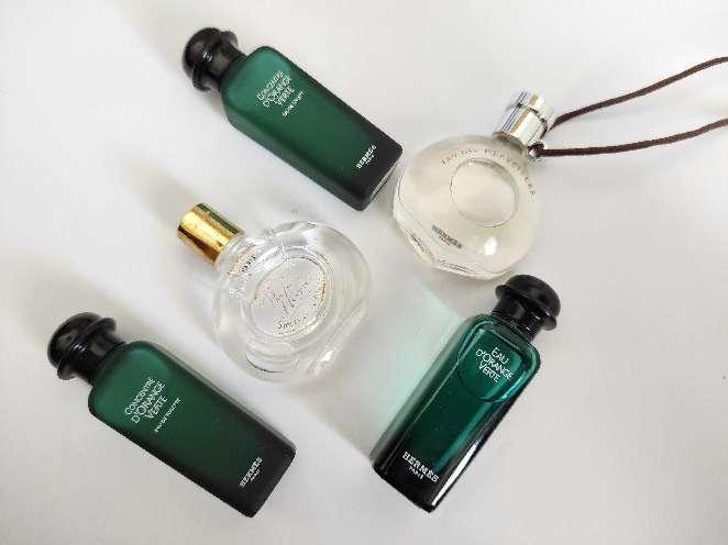 Imagen Hermes. Perfumes en miniatura