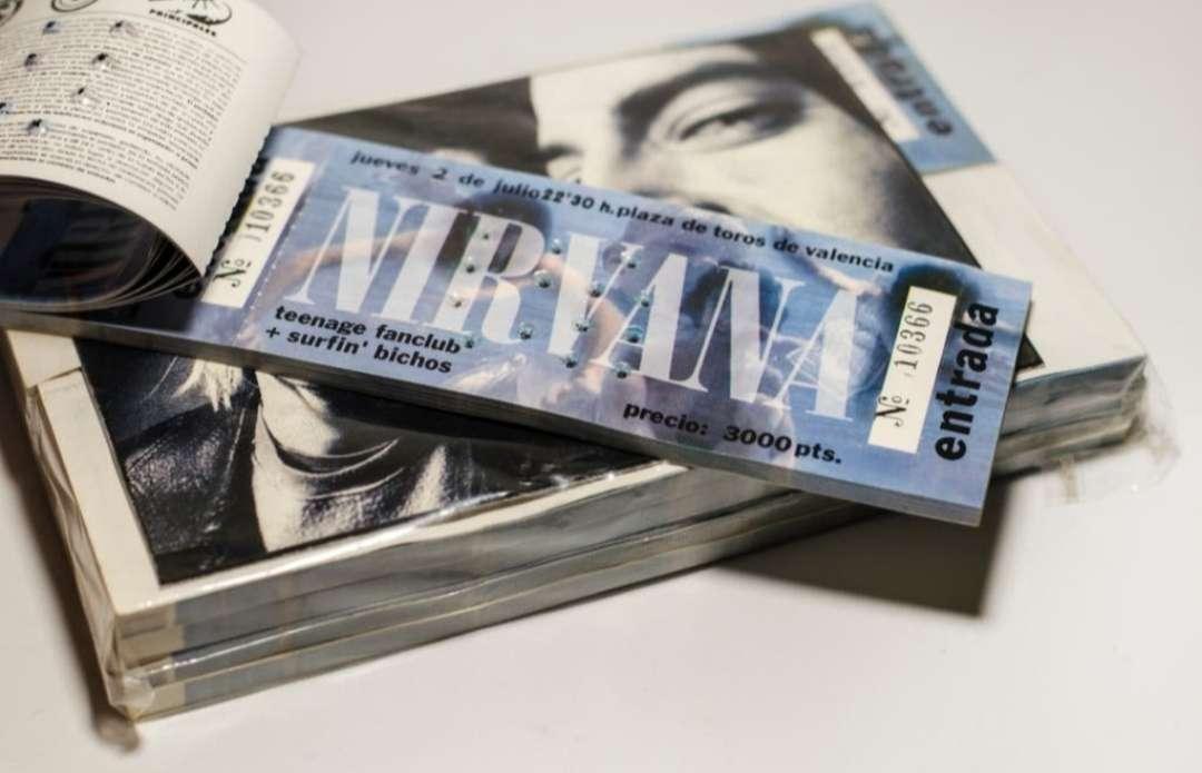 Imagen Nirvana talonarios originales 1992