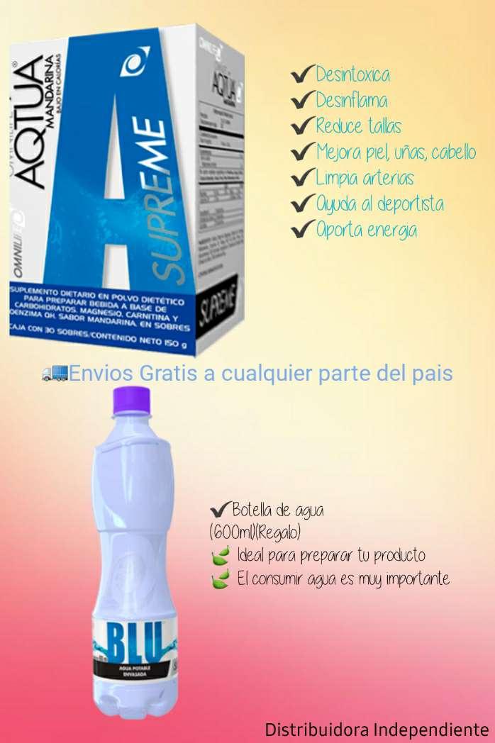 Imagen Aqtua supreme+Agua blu