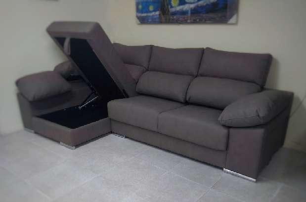 Imagen Sofá chaiselongue arcón color marengo
