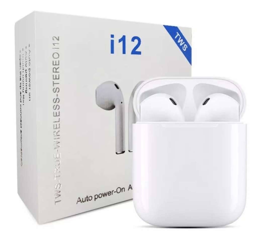 Imagen Audífonos Inalámbricos con Bluetooth i12