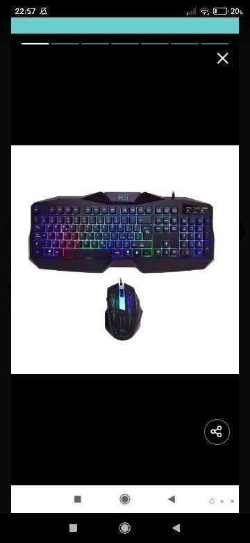 Imagen teclado y ratón Rii