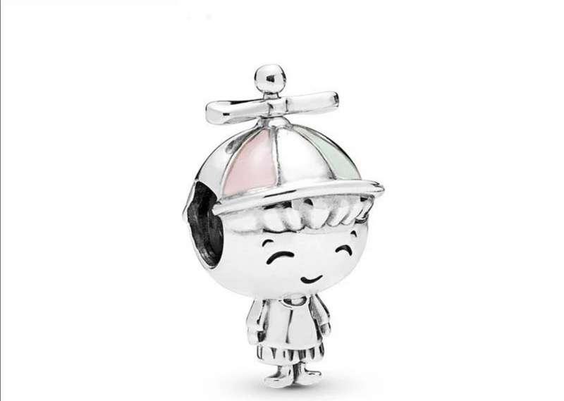 Imagen Charms - abalorio Niño con Gorra para Pulsera de Pandora, bañado en Plata