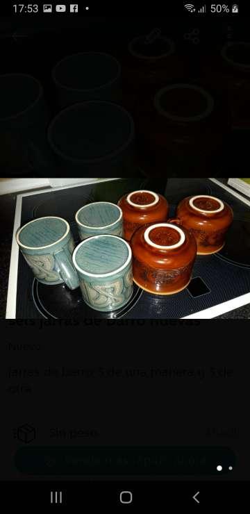 Imagen 6 tazas barro