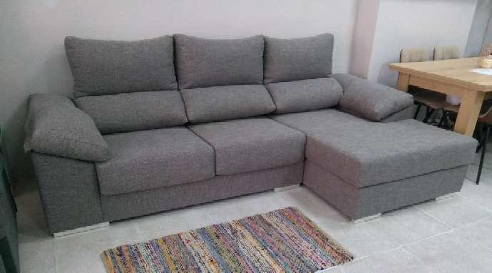 Imagen Sofá chaiselongue color gris