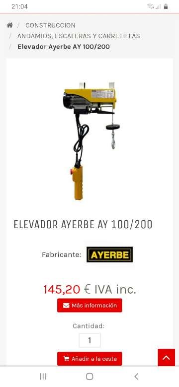 Imagen elevador electrico