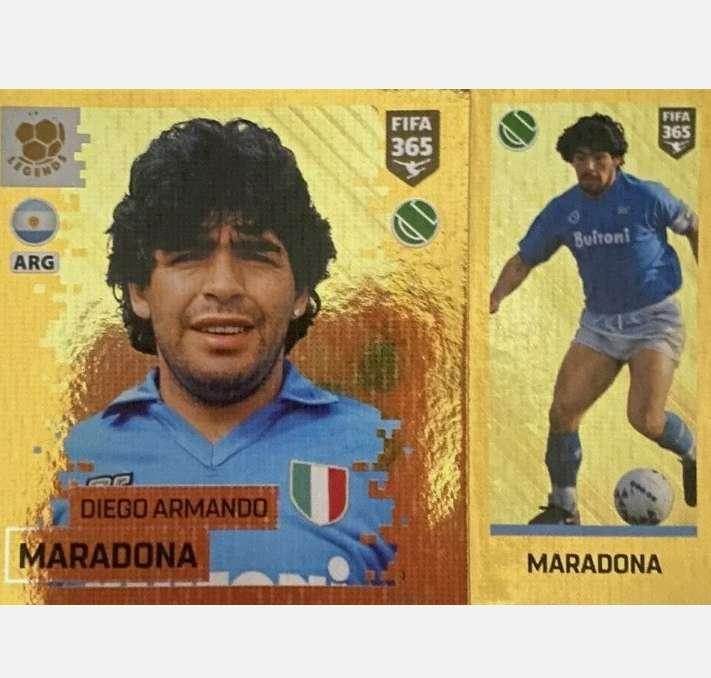 Imagen Maradona card fútbol