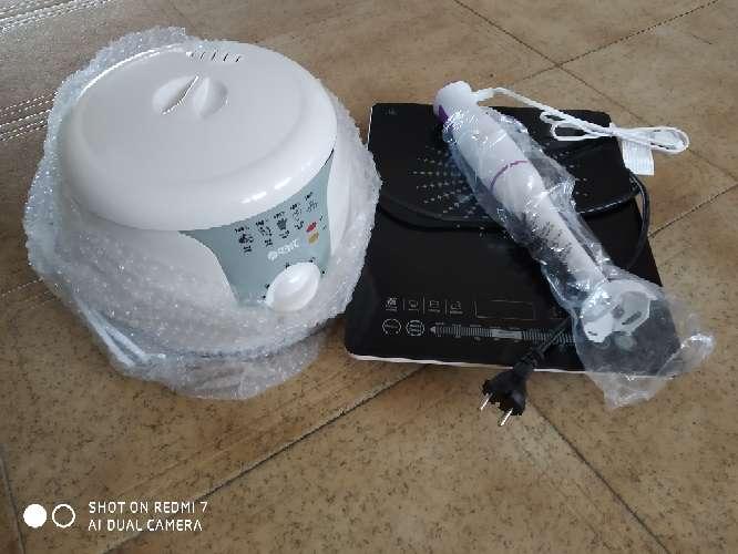 Imagen vitro portátil+freidora+batidor