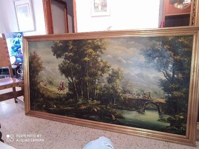 Imagen cuadro de pintura antiguo