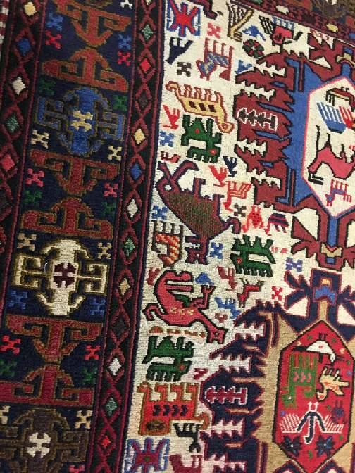 Imagen alfombra kilim bordados artesanal persa